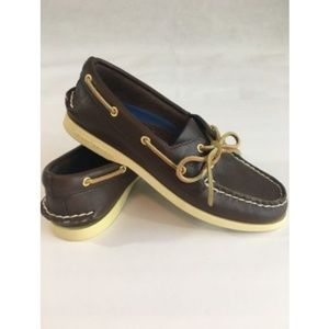 SPERRY TOP SIDER Vintage Womens Brown Boat Shoes